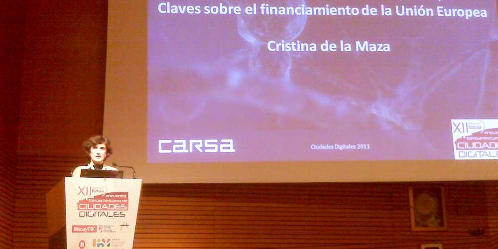 CARSA participa en el XII Encuentro Iberoamericano de Ciudades Digitales 2011